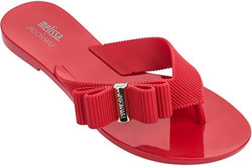 + Melissa Luxury Shoes Women's Jason Wu + Chrome Sandal Red 5 UK (7 US) B (M)