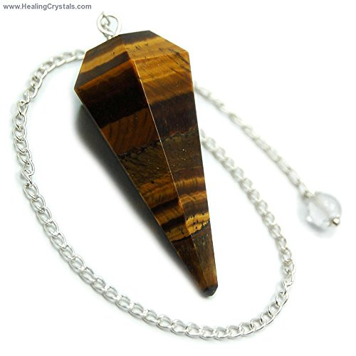 golden-tiger-eye-6-facet-pendulums-1-1-1-2-faceted-top-w-clear-quartz-bead-1pc-1pc