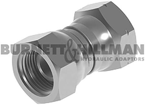 """Burnett /& Hillman Hydraulic adaptation 2B0810 1//2/"""" bsp mâle x 5//8/"""" bsp fem adaptateur"""