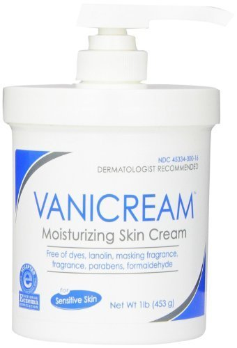 Vanicream Moisturizing Skin Cream with Pump Dispenser, 1 Pound (Pack of 2) by Vanicream