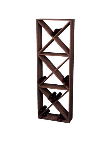- Wine Cellar Innovations Rustic Pine Solid Diamond Cube Wine Rack for 132 Wine Bottles, Dark Walnut Stained