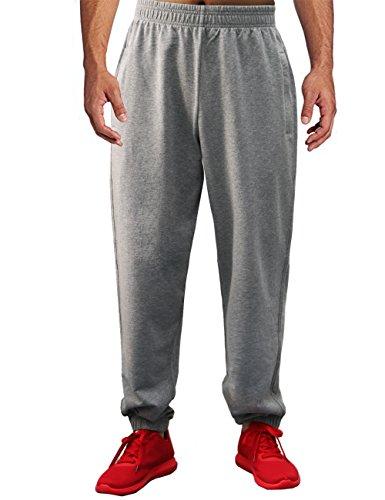 Cotton Jersey Knee Pants - BONWAY Men's Jersey Sweatpants Active Pants Athletic Cotton Sport Pants with Pockets Heavy Sweatpants