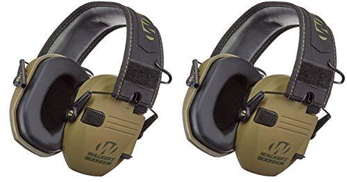 Walkers GWPRSEMPAT Razor Patriot Electronic Earmuff 23 dB OD Green/American Patch - 2 Pack by Walker's Game Ear