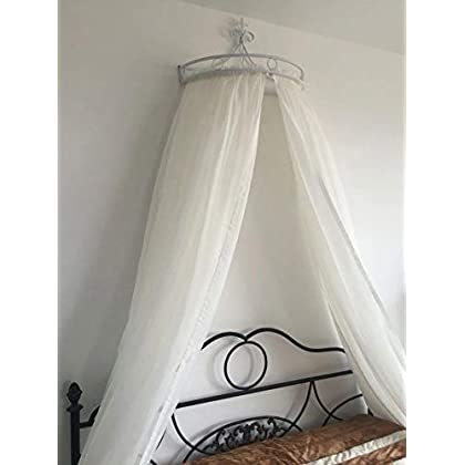 Image of HOMEJYMADE Princess Crown Bed Canopies,Mosquito net Bed Canopy for Girls Bedding Hanging Decoration-B Home and Kitchen
