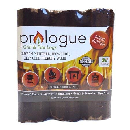 Prologue Grill & Fire Logs 6 Pack 8'' Logs 10 lbs