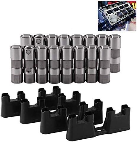 自動車用高性能バルブタペットLS7 LS2 16 GMパフォーマンス油圧ローラーリフター&4ガイド12499225 HL124-ダークグレー