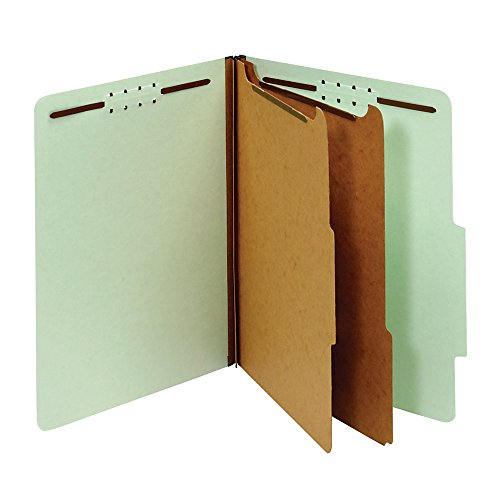 Office Depot Pressboard Classification Folders With Fasteners, Letter Size, 100% Recycled, Light Green, 10 pk, OD24076R (Recycled Pressboard Classification Folder)