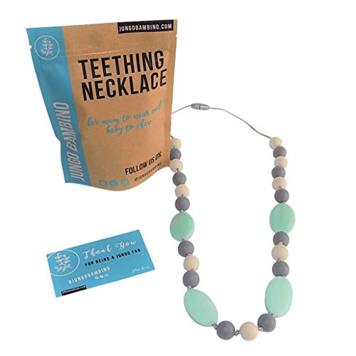 Teething Necklace Chewbeads Chewlery Blueberrymint product image