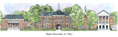 Miami University of Ohio - Collegiate Sculptured Ornament by Sculptured Watercolor Ornaments