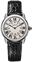 Cartier Women's W6700155 Ronde Solo Black Leather Watch by Cartier