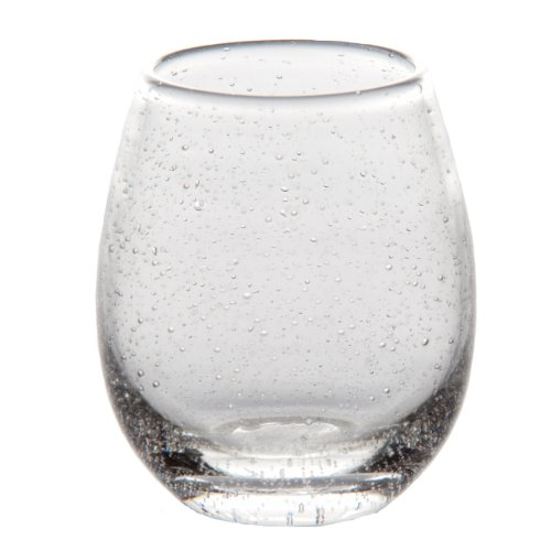 Abigails St. Remy Bubble Stemless Wine Glass, 16-Ounce, Clear