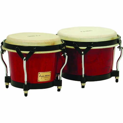 Tycoon Percussion 7 Inch & 8 1/2 Inch Supremo Series Bongos - Red Finish by Tycoon Percussion