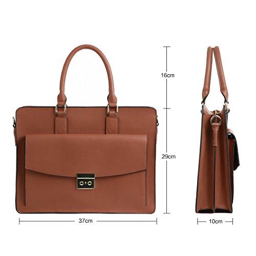 Leathario en cuir porte sac en bandoulière véritable sac femme sac Brun à main document cuir RRrqxAgaSn