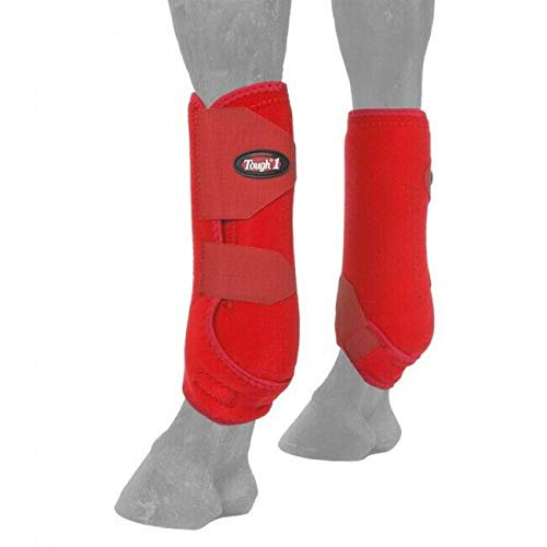 Tough-1 Vented Sport Boots Front Large Red
