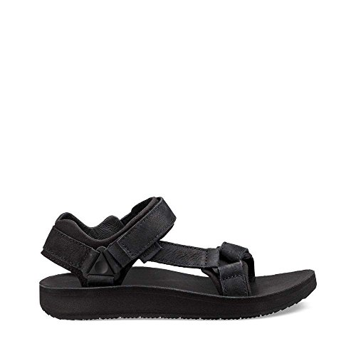 Teva Womens Women's W Original Universal Premier-Leather Sport Sandal, Midnight Black, 8 M US Premiere Leather
