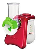 Moulinex DJ8115 Picadora eléctrica multiusos, 260 W, color rojo y blanco
