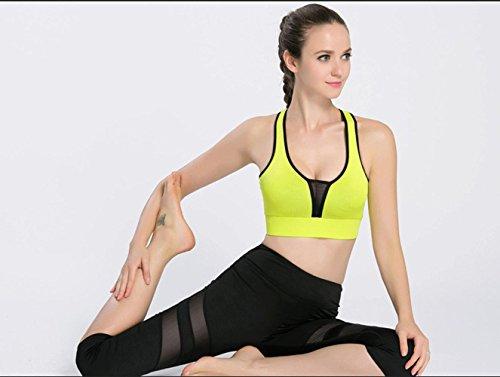 Mujer Bra / Choque / Deportes / Correr / Chaleco / Fitness Ropa interior , fluorescent orange + black , s GREENBLACK-S