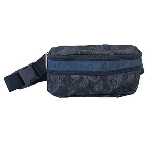 LeSportsac Double Zip Belt Bag Waist Pack, Denim Paisley
