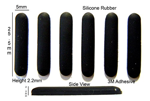 Hp Rubber Feet - Self Adhesive Silicone Rubber Feet 25.5mm(L) x 5mm(W) x 2.2mm(H) 6pcs [RB205]