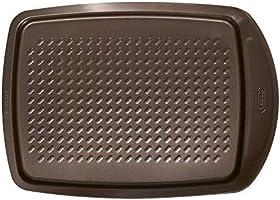 Pyrex Asimetria Non-stick Rectangular Baking Tray, Brown, 39.3cm x 27.8cm x 3.3cm