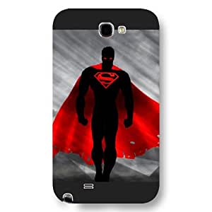 UniqueBox - Customized Personalized Black Frosted Samsung Galaxy Note 2 Case, Superman Man Of Steel Logo Samsung Note 2 case, Only fit Samsung Galaxy Note 2
