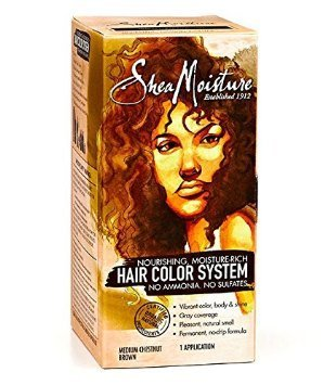 Hair Coloring System (Shea Moisture Nourishing, Moisture-Rich Hair Color System - Medium Chesnut)