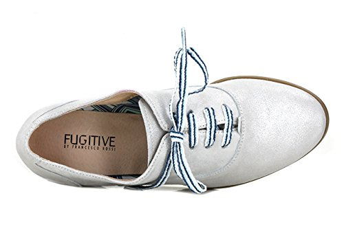 FUGITIVE HEVEA - Derbies / Richelieus - Femme metal grey 6dHDP9