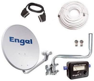 Kit Antena PARABOLICA Engel 60CM+ LNB+LOCALIZADOR + Kit ...