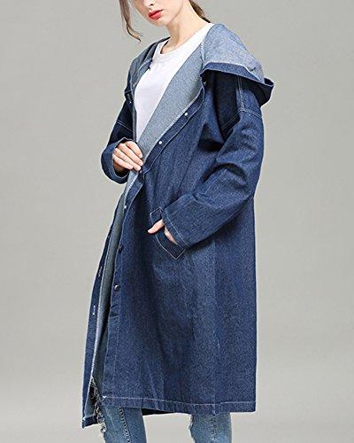 Blouson 1 en Manteau Longue Jacket Femme Trench Cardigans Denim Coat Veste Gilet Capuche Femme Jean A Boyfriend arwqHxa7