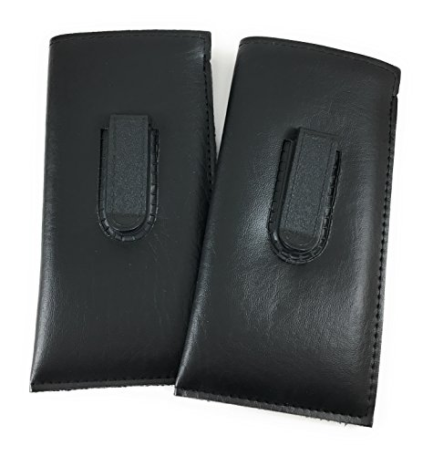 MAZZEO 2 Pack Slip in Glasses Case for Eyeglasses Sunglasses & Safety Glasses for Men & Women