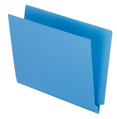 Pendaflex Reinforced 2-Ply Folders, Straight Cut, End Tab, Letter Size, Blue, 100 per Box (H110DBL)