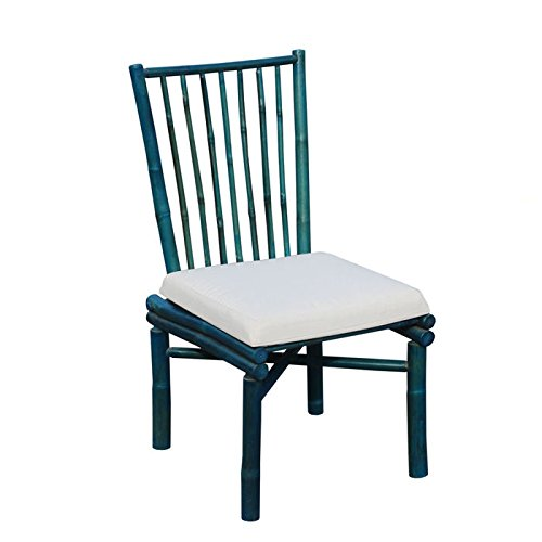Zew CH-224-08 Bamboo Dining Chair, Medium, Turquoise -