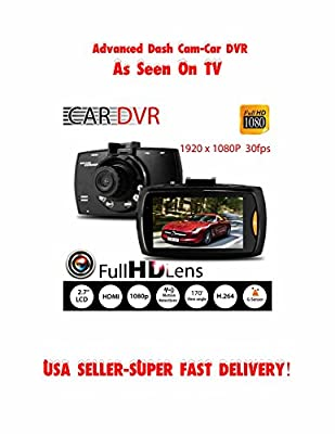 "Advance Full HD 1080P 2.7"" Car DVR Dash Camera Protector G-sensor Night Vision Recorder w/Sandisk 8gb TF Card US SELLER SUPER FAST SHIPPING!"