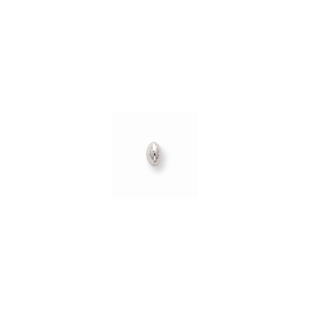 Sterling Silver 5.6 x 3.7mm Polished Saucer Bead