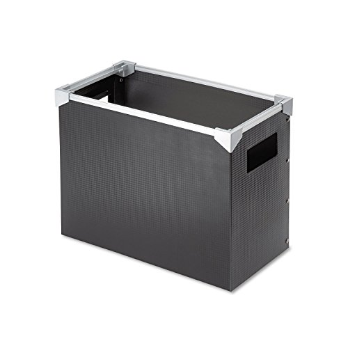 - Pendaflex 01151 Poly Desktop Storage Box, Letter Size, Black