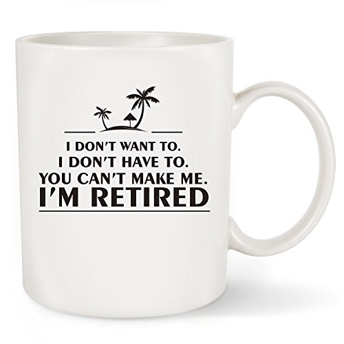 Coffee Retirement (Funny Retirement Gag Gifts for Women Men Dad Mom - Humorous Christmas Retired Presents Coffee Mug Tea Cup For Coworker Office & Family)