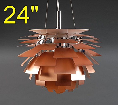 Artichoke Copper Pendant Light in US - 6