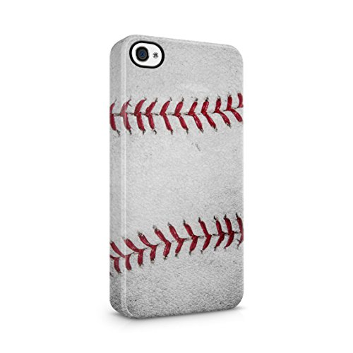 alistic Leather Official Baseball Ball Pattern Print Plastic Phone Snap On Back Case Cover Shell for iPhone 4 & iPhone 4s ()