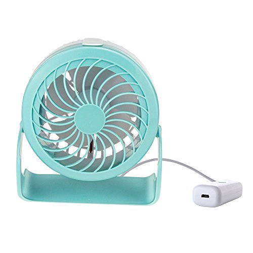 Price comparison product image Mystery Mini Cooling Fan 4 Modes USB Mini Desk Fan 180° Rotatable Fan Misting Cooling Spray Fan Air Circulator Fan Humidifier for Personal, Friends, Family Blue
