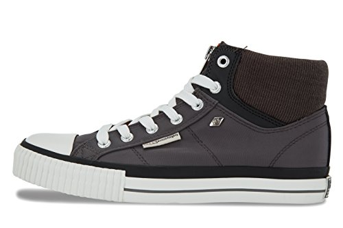 British Knights WoMen Opie Hi-Top Trainers DK GREY/BLACK/ORANGE