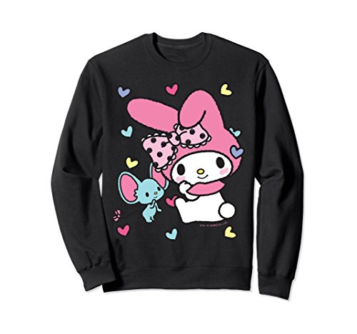 Unisex My Melody Sweet Hearts Sweatshirt XL: Black ()