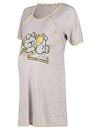 Happy Mama. Womens Maternity Nursing Breastfeeding Nightdress Shirt Gown. 029p