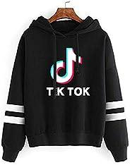 Luolitata TIK tok Boys Girls Sweatshirts Pullover Hoodie Printed Long Sleeve Novelty Sweater