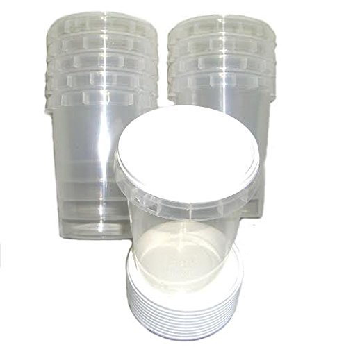 100 Durable Plastic 500g Honey Jars / Pots (1lb) Simonthebeekeeper