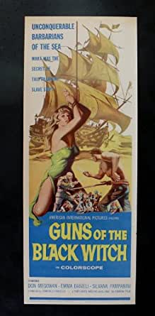 GUNS OF THE BLACK WITCH * ORIG MOVIE POSTER INSERT 1961
