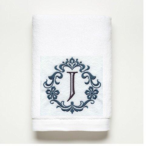 Monogram Letter ~ Towel Set ~ 100% Cotton ~ A B C D E F G H I J K L M N O P Q R S T U V W X Y Z (J)