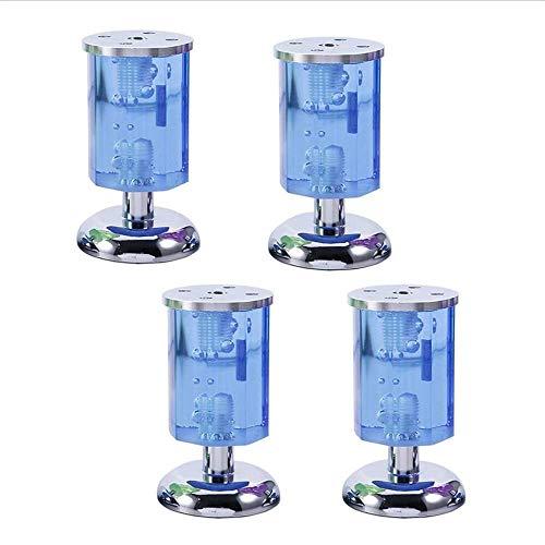 WXQ Pies de Soporte de Muebles, gabinete de Vidrio de Cristal plastico Muebles para pies Accesorios de Hardware Sofa Gabinete de pies Mesa de Centro Pies Rodamiento Fuerte/Azul / 100 mm