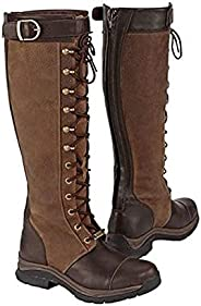 Medieval Knight Boots Steampunk Retro Leather Long Shaft Shoes with Zipper Men Women Cross Strap Non-Slip Eque
