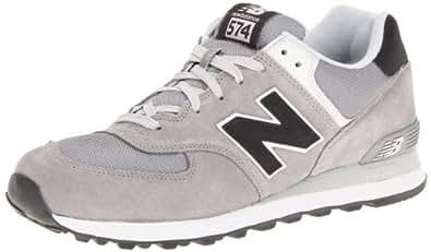 New Balance Men's ML574 Classic Running Shoe,Grey/Black,10.5 D US