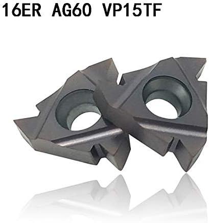 NO LOGO ZDX-CHEXIAODJ, 16ER AG60 VP15TF Hartmetalleinsätze Gewindedrehwerkzeug Schneidwerkzeug Drehwerkzeuge Fräser CNC-Werkzeug 16ERAG60 (Angle : MMT 16ER AG60 VP15TF, Insert Width(mm) : 100PCS)